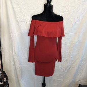 Bodycon off the shoulder dress
